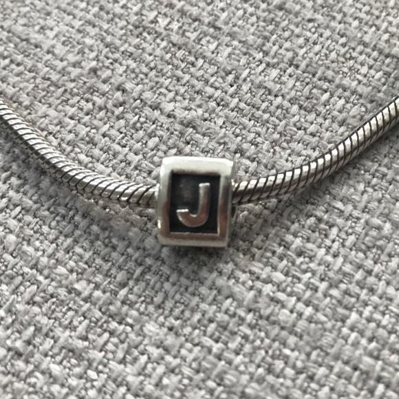 Pandora Jewelry Pandora Charm J Initial Block Letter Retired Poshmark
